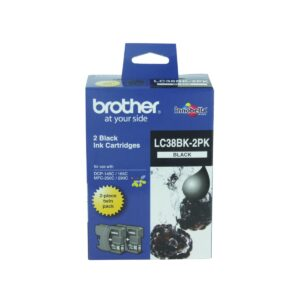 Brother LC38 Black Twin