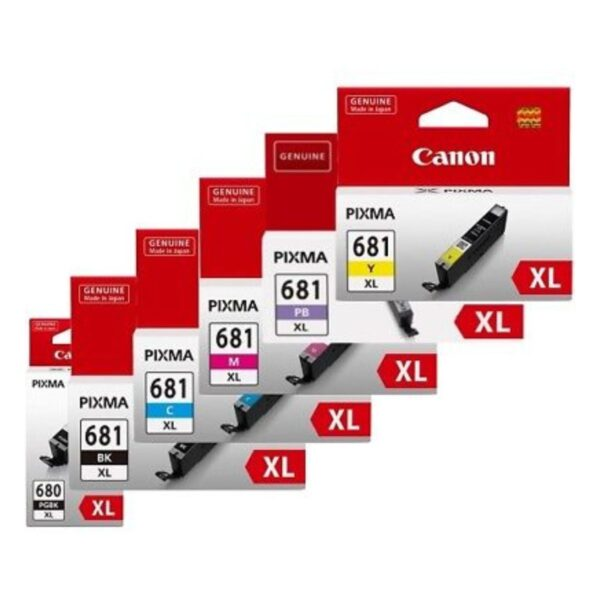 Canon 680xl 681xl BCMYPB Pack