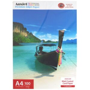 Double Sided Matte Card A4 size 300gsm Pk100