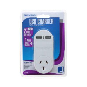 Jackson Charger 1 Outlet 2 USB Ports PT1USB