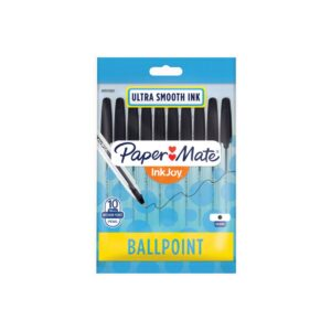 Papermate Inkjoy 100ST Cap Ball Pen Black Pk10 Box12