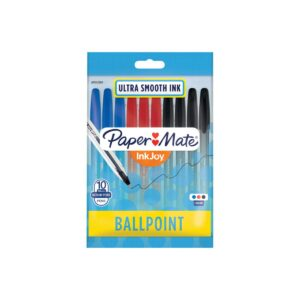 Papermate Inkjoy 100ST Cap Ball Pen Business Asst Pk10 Box12