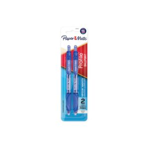 Papermate Profile RT 1.00 BP Pen Blue Pk 2 Box 6