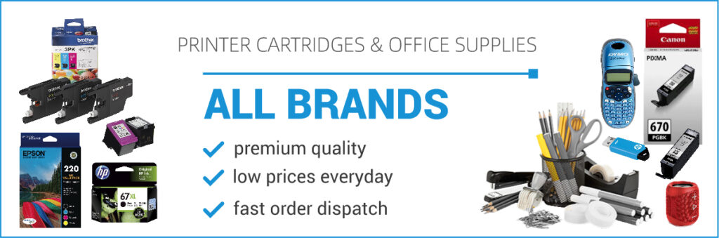 Printer Cartridges Office Supplies Banner