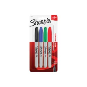 Sharpie Fine Point Permanent Marker Bus Asstd Pk4 Bx6