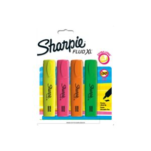 Sharpie Fluo XL Highlighter Assorted Pk4 Bx12