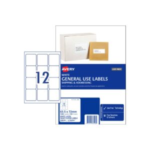 Avery 12UP General Use Label L7164GU 63.5x72 Bx100