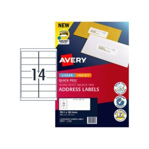 Avery 14up Address Label L7163 99.1x38.1mm Pk10