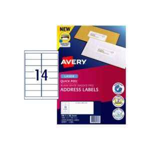 Avery 14up Laser Label L7163 99.1x38.1mm Pk100