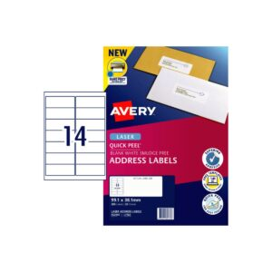 Avery 14up Laser Label L7163 99.1x38.1mm Pk20