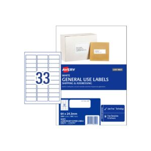 Avery 33UP General Use Label L7157GU 64x24.3 Bx100