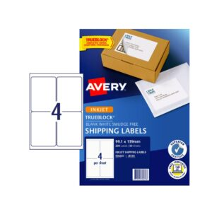 Avery 4UP Shipping Label J8169 Pk50 99.1 x 139 mm