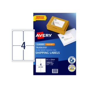 Avery 4up Shipping Label L7169 99.1x139mm Pk10