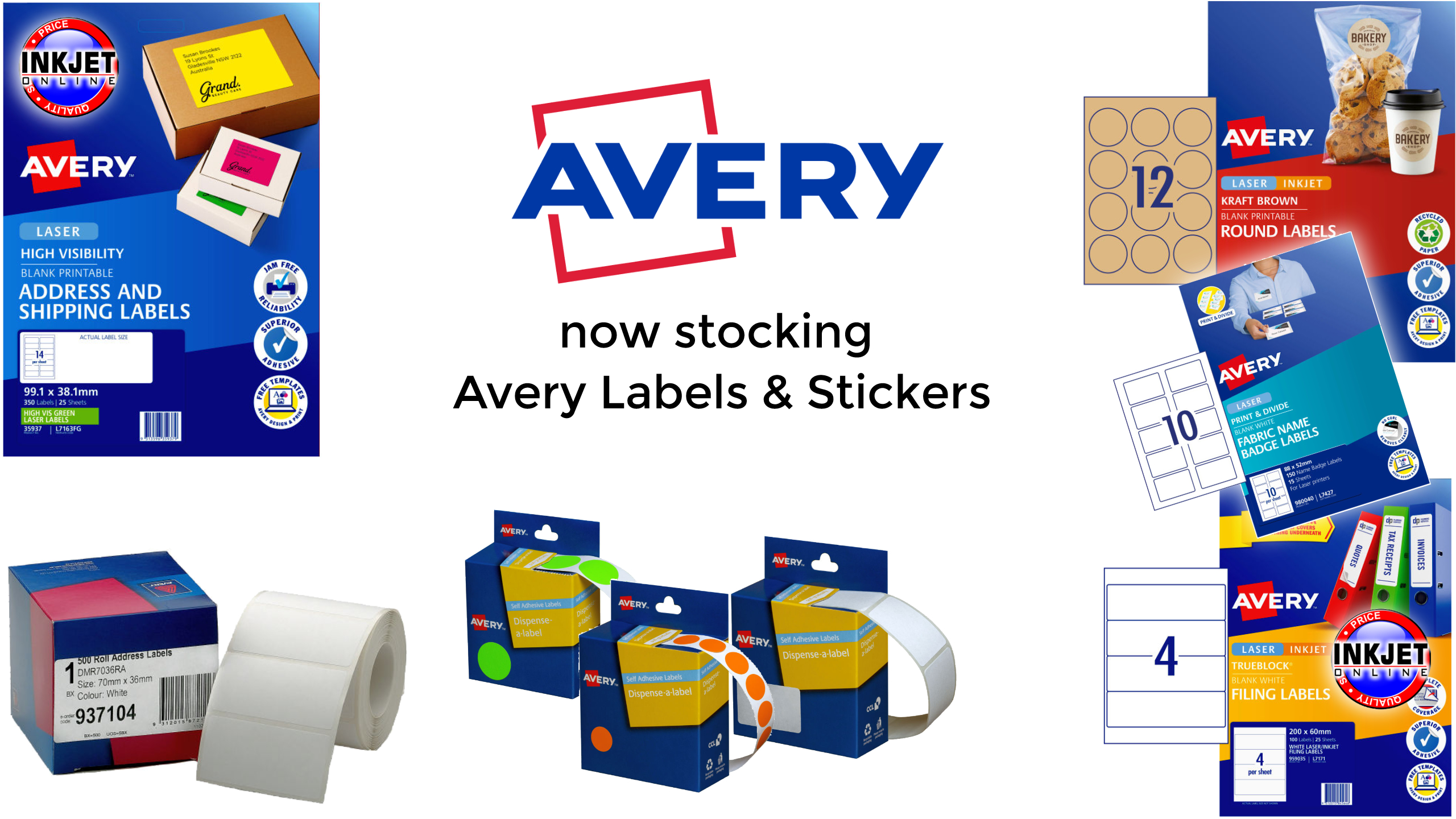 Now Stocking Avery Labels & Stickers