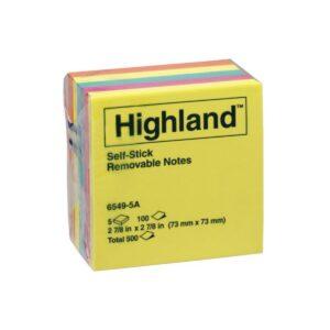 Highland Notes 6549-5A Coloured 73X73 Pk5