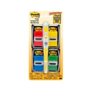 Post-It Flag 680-RYBGVA Value Pack with Pen