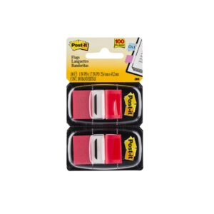 Post-It Flags 680-RD2 Red Pk2 Bx6