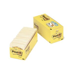 Post-It Note 654-18CP Yellow 73x73mm Cabinet Pack18