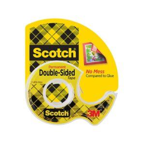 Scotch Double Sided Tape 136 12.7mmx6.3m Pk12