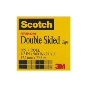 Scotch Double Sided Tape 665 12mm x 22.8m Pk12