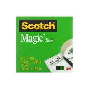 Scotch Magic Tape 810 19mm x 33m Pk12