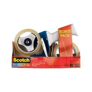 Scotch Packaging Tape BPS-1 Pk2 Bonus Pack with Dispenser