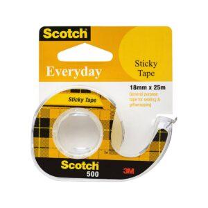 Scotch Sticky Tape 502 18mm x 25 Bx12